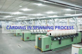 carding in spinning process