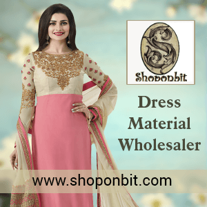 Shoponbit Banner for dress Material