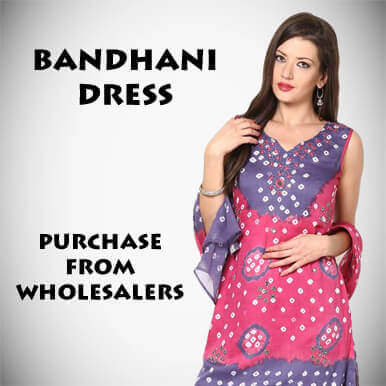 companies  bandhani dress