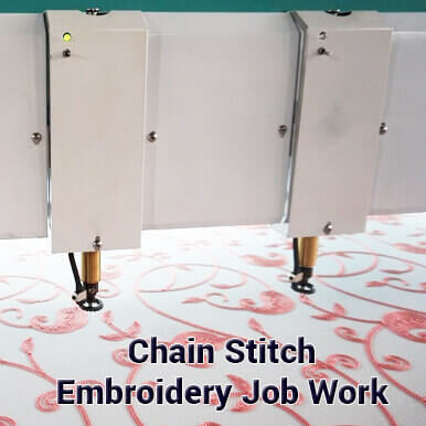 chain stitch embroidery job work