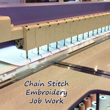 chain stitch embroidery job work companies