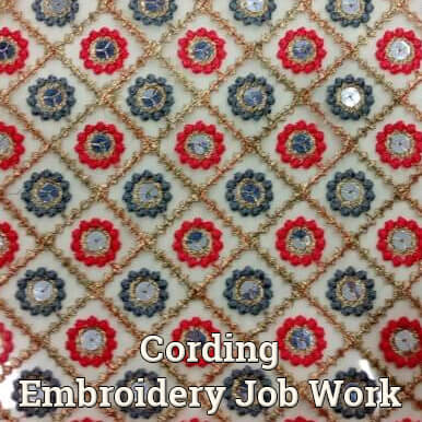 cording embroidery job work companies