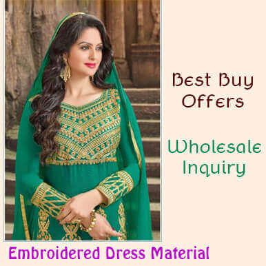 companies  embroidered dress material