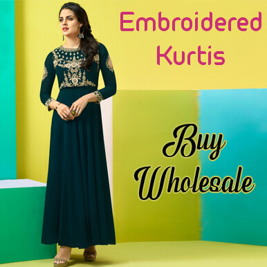 embroidered kurtis companies