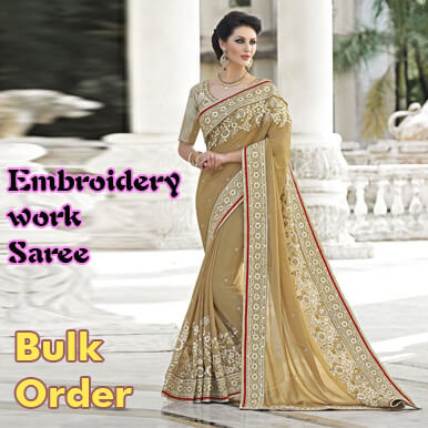 Embroidery Work Sarees Manufacturer Supplier Exporters In Pune