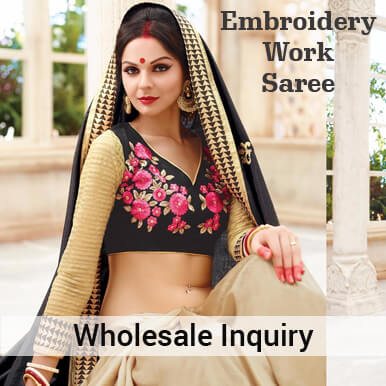 embroidery work sarees companies