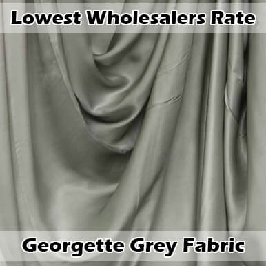 georgette grey fabric