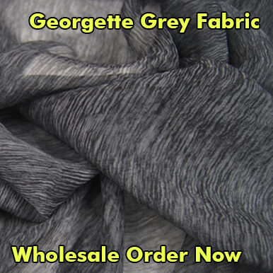 georgette grey fabric companies