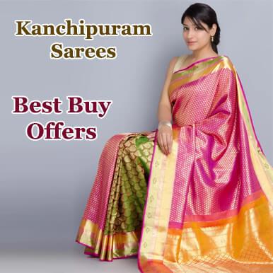 kanchipuram Silk Wedding Banarasi Silk Kanchipuram Saree Silk Party Wear Sari G1