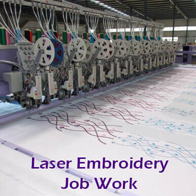 companies  laser embroidery job work   jaipur
