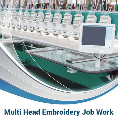 multi head embroidery job work companies