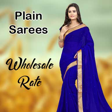 Plain sarees wholesalers in India