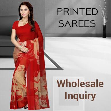 Printed sarees wholesalers