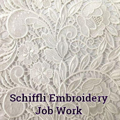 schiffli embroidery job work