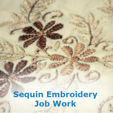 sequin embroidery job work