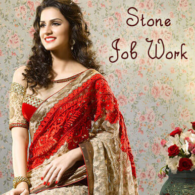 Stone Job Work Diamond Embroidery Job Work On Dress Sarees Stone Stitching Work