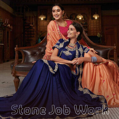 Stone Job Work Diamond Embroidery Job Work On Dress Sarees In Ludhiana Punjab India Stone Stitching Work