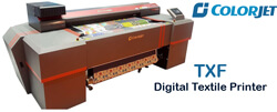 ColorJet to Unveil Japanese Technology Digital Textile Printer TXF at GTE 2018