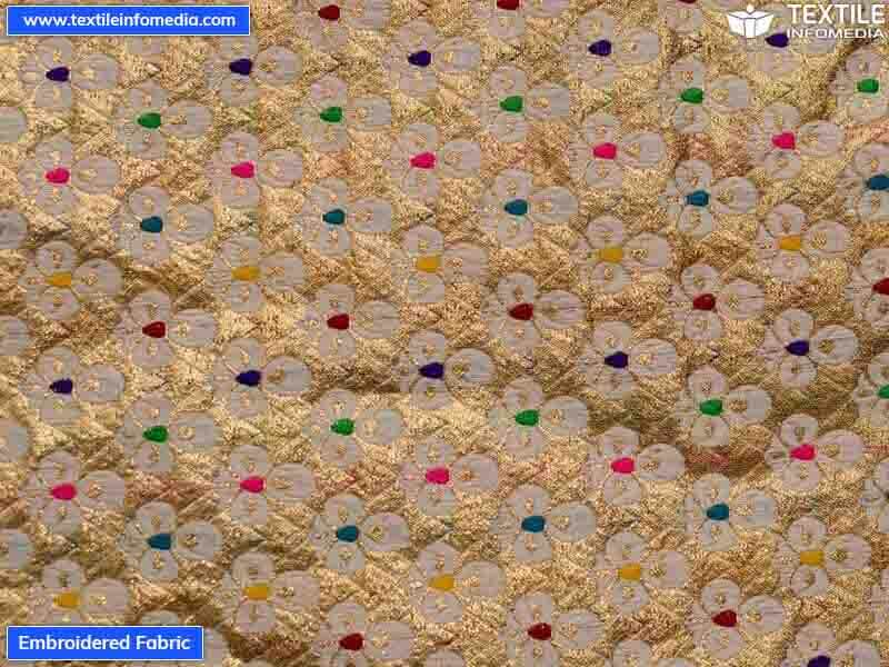 Embroidered fabric manufacturers wholesalers suppliers