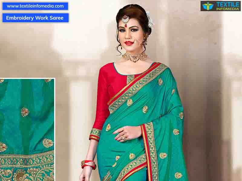 Embroidery Work Sarees Manufacturer Supplier Exporters