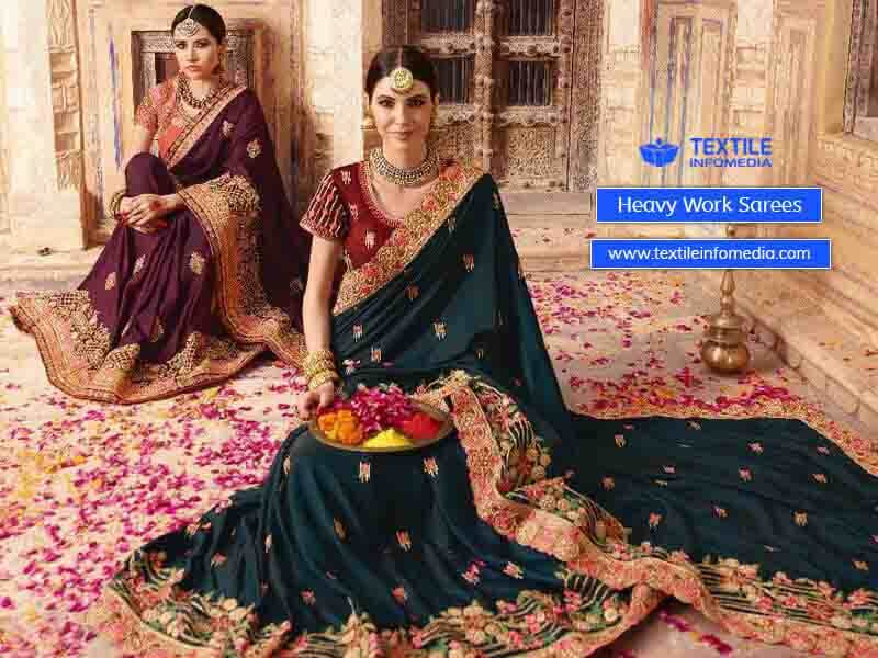 heavy work sarees   chennai