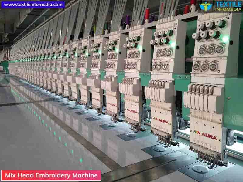 Mix Head Embroidery Machine Manufacturers Supplier U0026 Importers In Surat Gujarat India