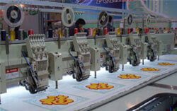 mix head embroidery machine
