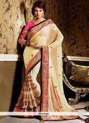 Border work fancy saree