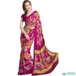 f6e37e26fd3 Kala Shresth in delhi chiffon sarees manufacturer delhi - Multicolor ...