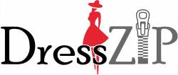 Dress zip logo icon