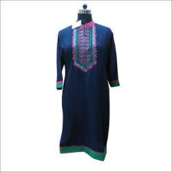 Cotton Embroidered Kurtis