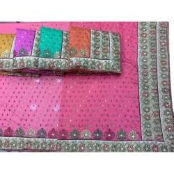 Heavy diamond work saree