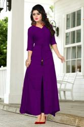 Creta Purple Gown