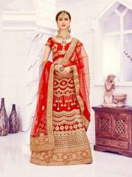 Red Bridal Lehenga0