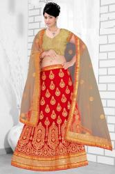 Red Bridal Lehenga3
