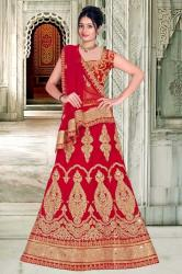 Red Bridal Lehenga4