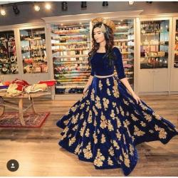 Royal Art Blue Lehenga