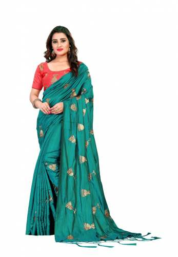 Georgette Saree With Blouse by Destiny Fashion Hub