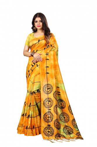 Khadi Printed Saree by Destiny Fashion Hub