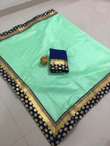 Printed Banglory Silk Saree by Q And Q Creation