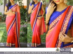 Designer Embroidered lLace saree