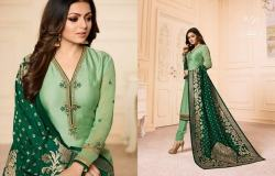 Designer Embroidered Straight Suit1