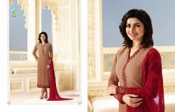Designer Embroidered Straight Suit12