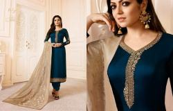 Designer Embroidered Straight Suit2