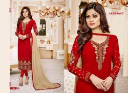 Designer Embroidered Straight Suit20