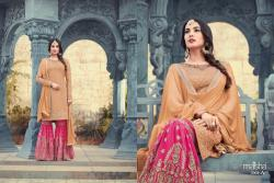 Designer Heavy Embroidered Gharara Suit0