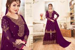 Designer Heavy Embroidered Gharara Suit1