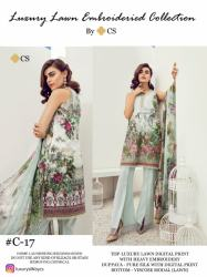 Designer Lawn suit with Embroidery0