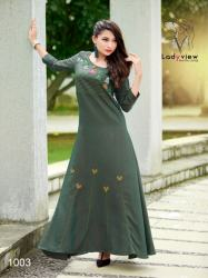 Designer Long Ethnic Gown By Ladyview2