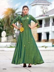 Designer Long Ethnic Gown By Ladyview4